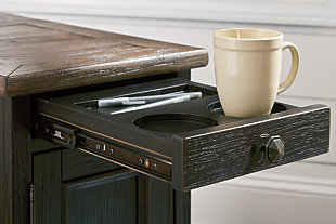 Tyler Creek Chairside End Table with USB Ports & Outlets, , large