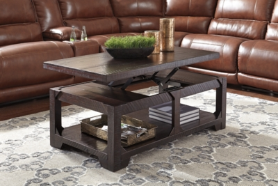 Rogness Coffee Table with Lift Top Ashley Furniture HomeStore