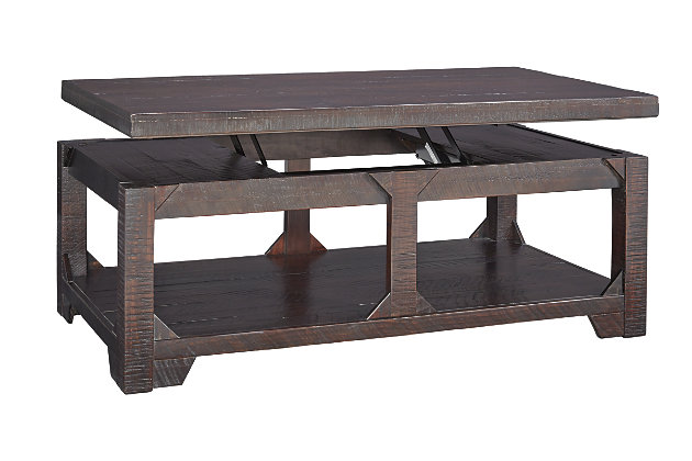 rogness coffee table with lift top | ashley furniture homestore