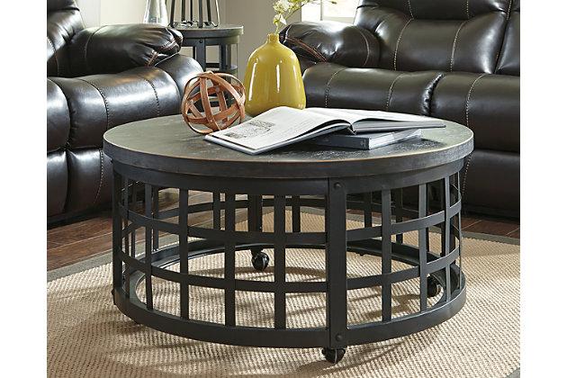 black marimon coffee table view 3
