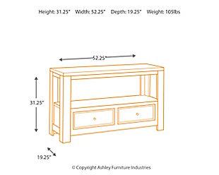 Gavelston Sofa/Console Table, , large