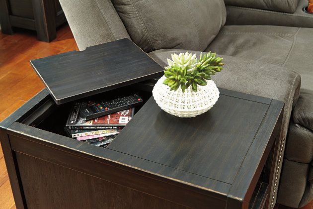 Gavelston Chairside End Table With Usb Ports Amp Outlets