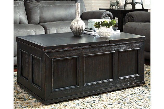 Gavelston Coffee Table with Lift Top | Tuggl