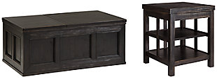 Gavelston Coffee Table with 1 End Table, , large
