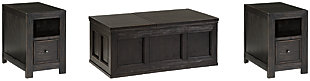 Gavelston Coffee Table with 2 End Tables, , large