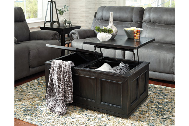 Gavelston Coffee Table with Lift Top, , large