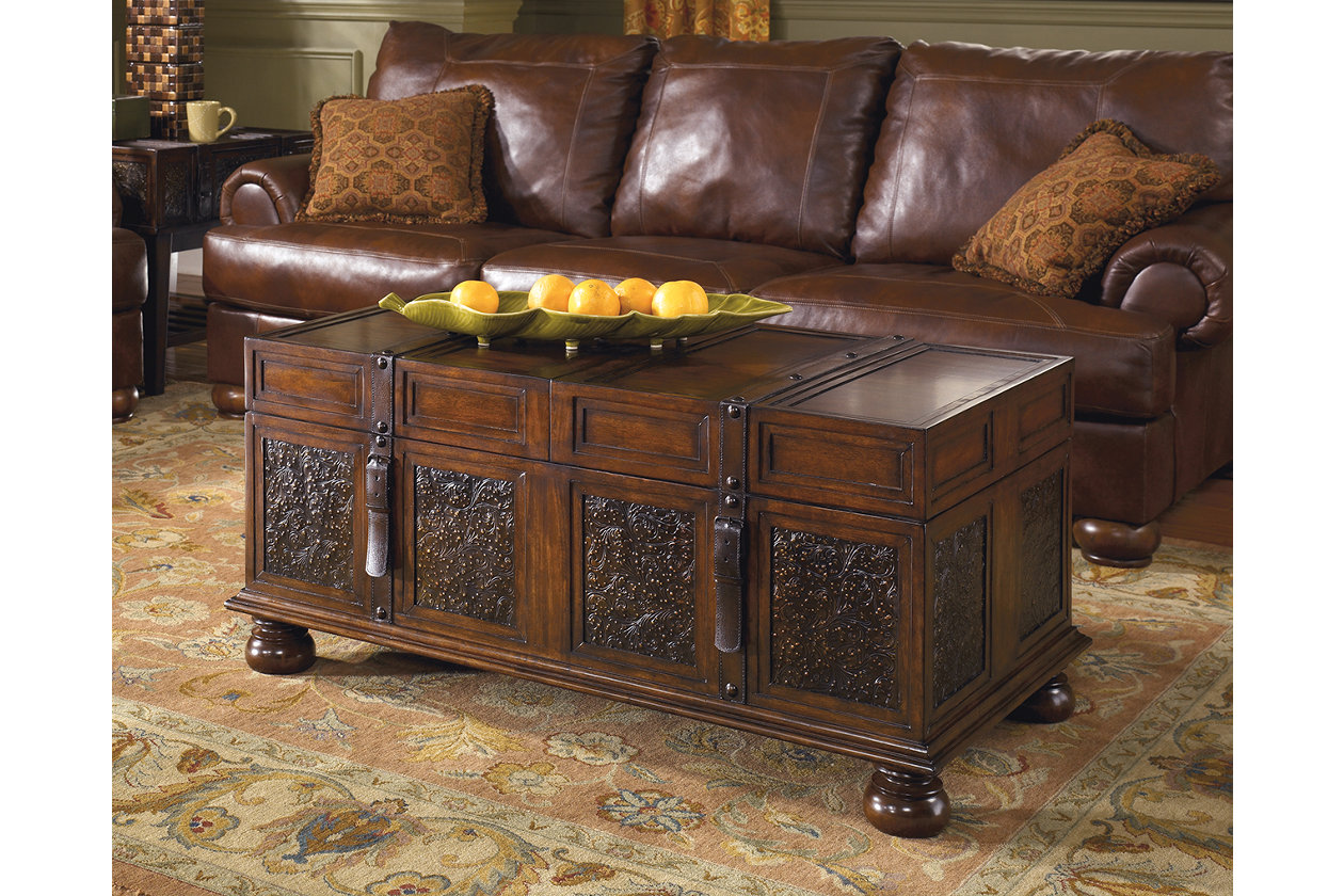 Swell Mckenna Coffee Table With Storage Ashley Furniture Homestore Interior Design Ideas Gentotryabchikinfo