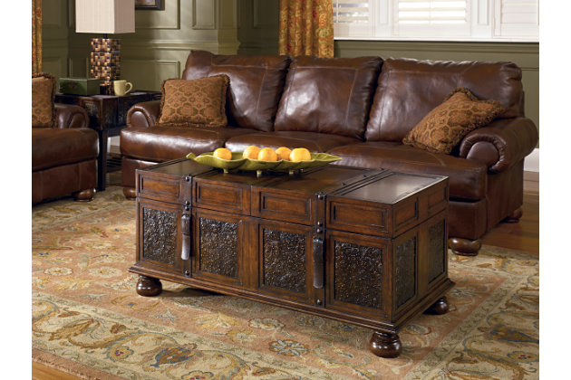 Trunk Style Coffee Table And End Tables