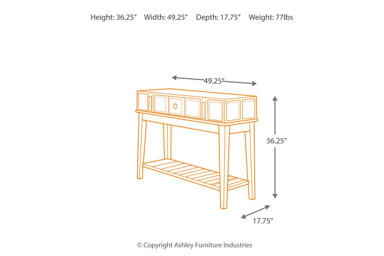 Astonishing Mckenna Sofa Console Table Ashley Furniture Homestore Interior Design Ideas Gentotryabchikinfo