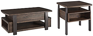 Vailbry Coffee Table with 1 End Table, , large