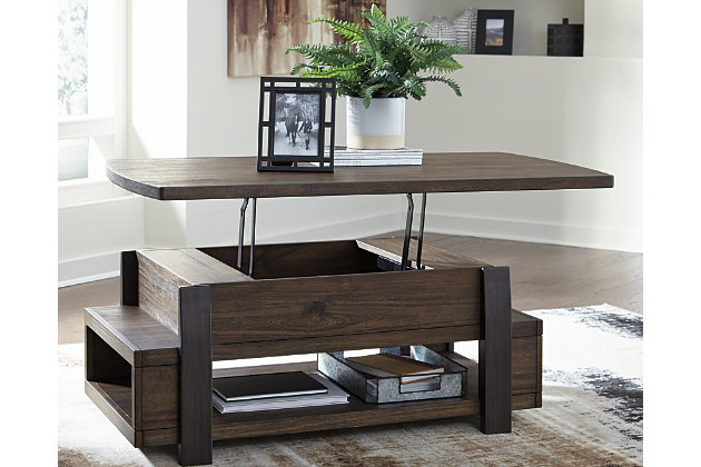 Vailbry Coffee Table With Lift Top Ashley Furniture Home