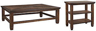 Royard Coffee Table with 1 End Table, , large