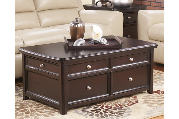 Carlyle Coffee Table With Lift Top Ashley Furniture Homestore