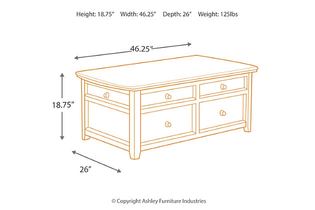 Carlyle Coffee Table with Lift Top, , large