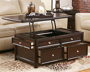 ... Large Carlyle Coffee Table With Lift Top, , Rollover