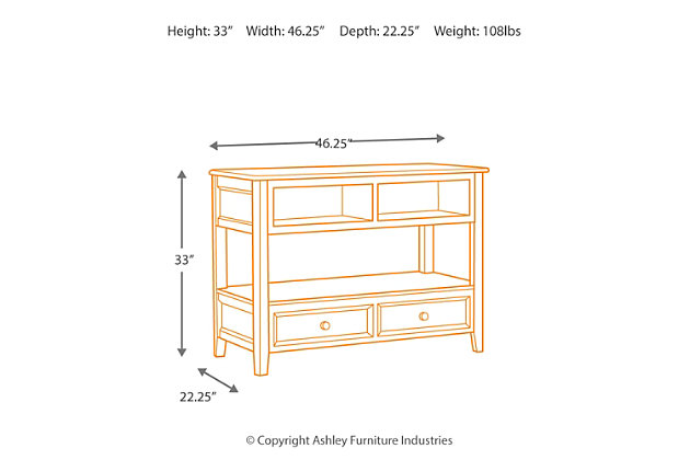 ... Carlyle Sofa/Console Table, , Large