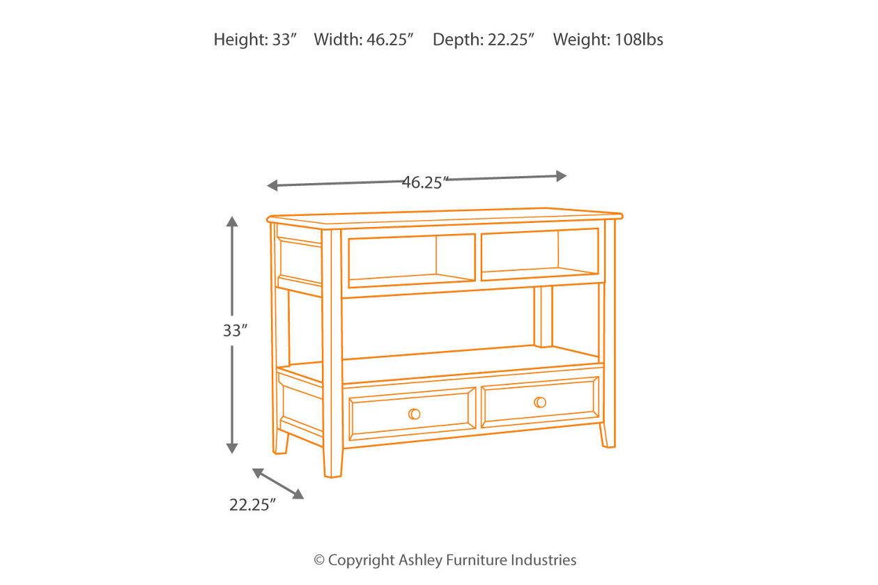 Wondrous Carlyle Sofa Console Table Ashley Furniture Homestore Ncnpc Chair Design For Home Ncnpcorg