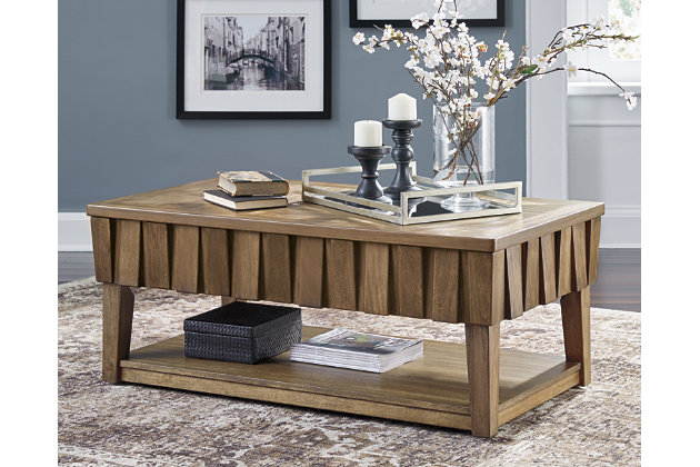 Rowenbeck Coffee Table with Lift Top, , large