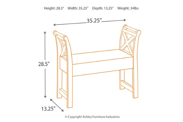 Abbonto Accent Bench, , large