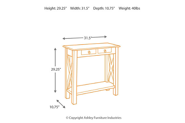 Abbonto Sofa/Console Table, , large