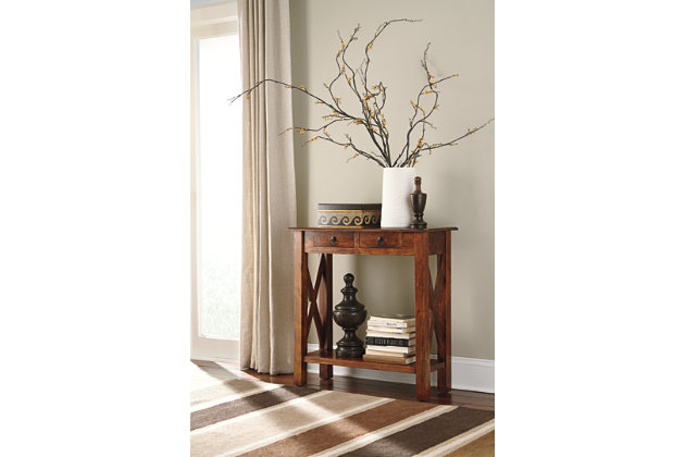 Abbonto Sofa/Console Table by Ashley HomeStore, Brown