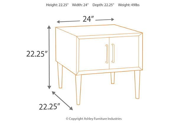 Kisper End Table, , large