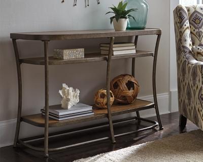 Ashley Nartina Sofa/Console Table, Light Brown