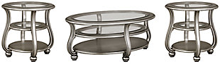 Coralayne Coffee Table with 2 End Tables, , large