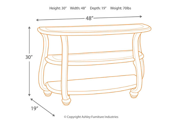Coralayne Sofa/Console Table, , large
