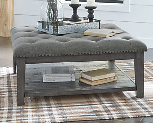 Borlofield Coffee Table Ottoman, , rollover