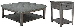 Borlofield Coffee Table with 1 End Table, , large
