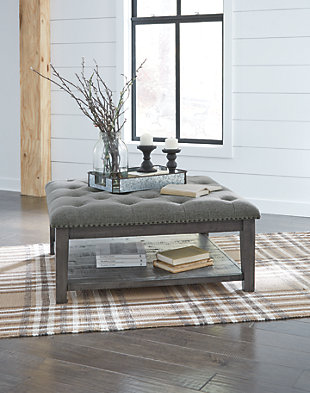 Borlofield Coffee Table Ottoman, , large