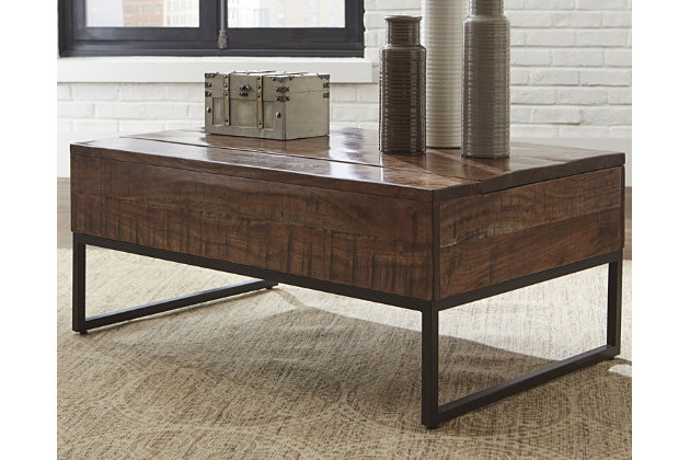 Hirvanton Coffee Table with Lift Top, , large