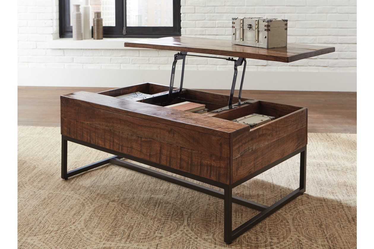 Hirvanton Coffee Table With Lift Top Ashley Furniture Homestore