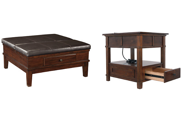 Gately Coffee Table with 1 End Table, , large