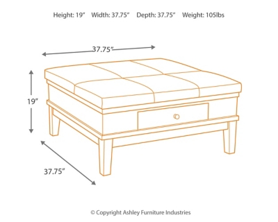 Gately Coffee Table with Lift Top Ashley Furniture HomeStore