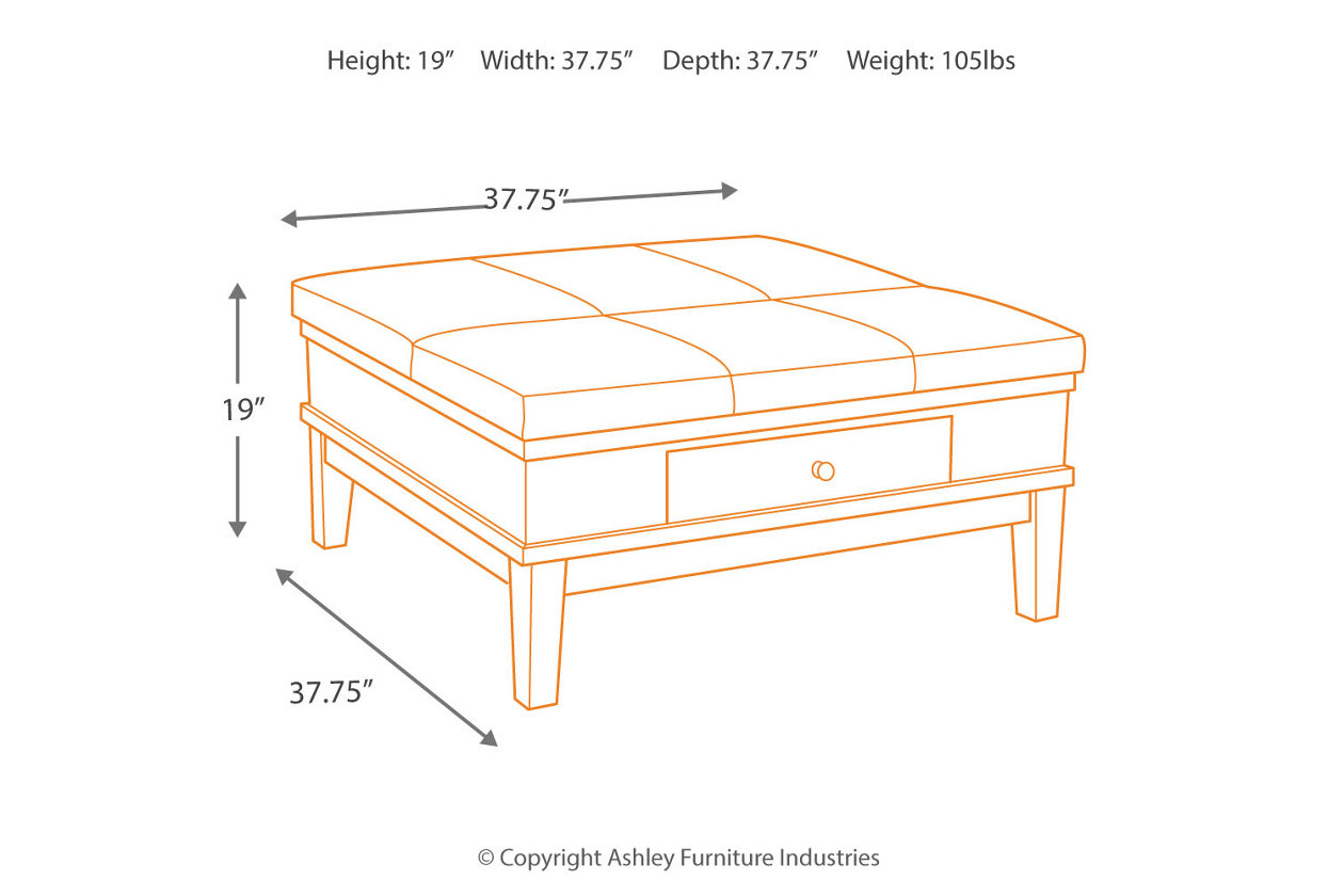 Gately Coffee Table With Lift Top Ashley Furniture HomeStore - Ashley gately coffee table