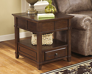 Gately End Table with Storage & Power Outlets, , rollover