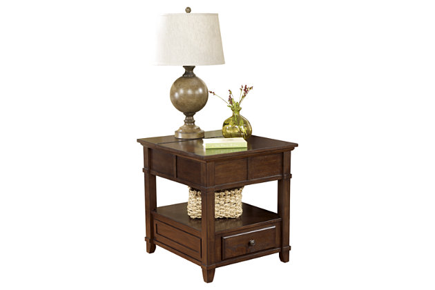 Gately End Table with Storage & Power Outlets, , large