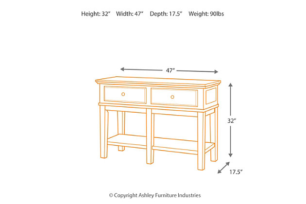 Gately Sofa/Console Table, , large