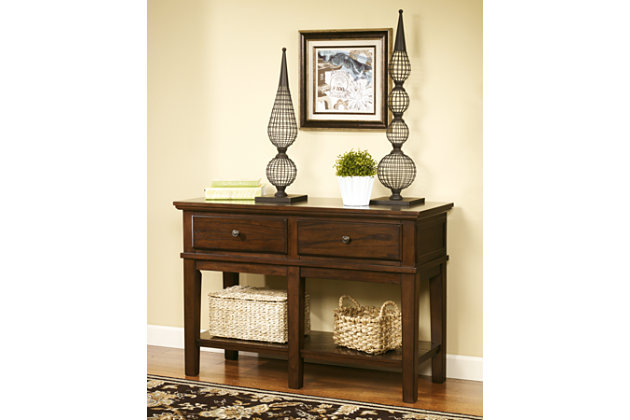 Gately Sofa/Console Table by Ashley HomeStore, Brown