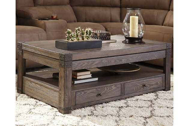 Burladen Coffee Table with Lift Top by Ashley HomeStore, ...