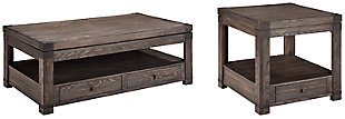 Burladen Coffee Table with 1 End Table, , large