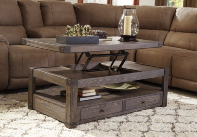 Burladen Coffee Table with Lift Top Ashley Furniture HomeStore