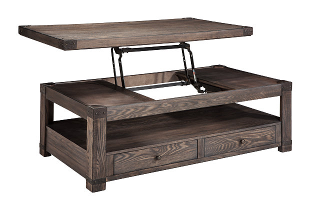 Burladen Coffee Table With Lift Top Ashley Furniture