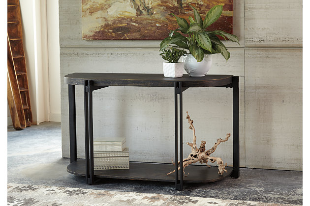 Black Winnieconi Sofa/Console Table by Ashley HomeStore