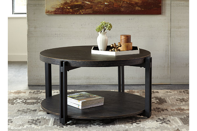 Black Winnieconi Coffee Table by Ashley HomeStore