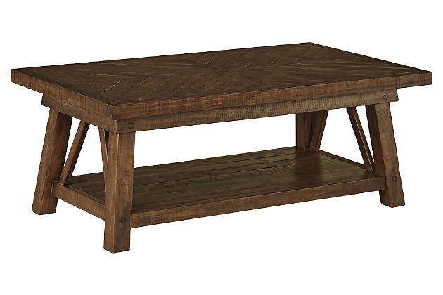 Dondie Coffee Table by Ashley HomeStore, Brown