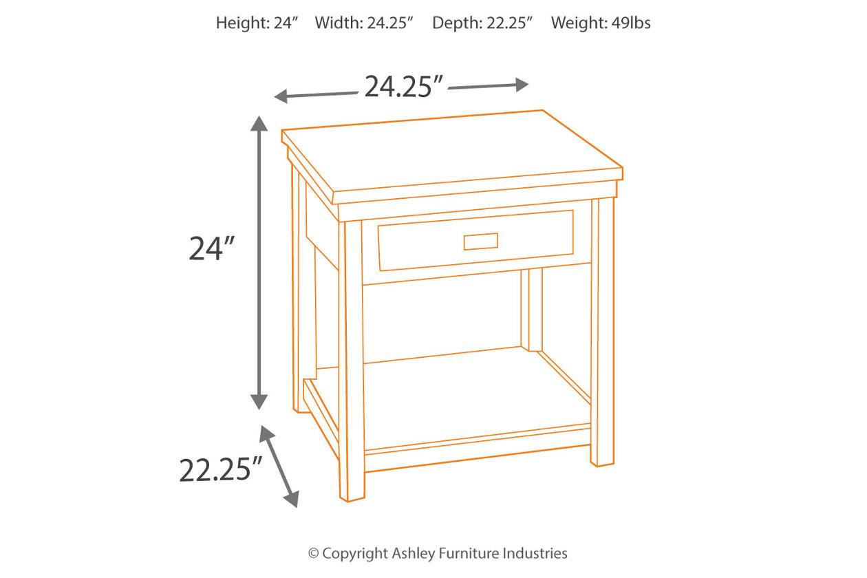 Pleasant Hatsuko End Table Ashley Furniture Homestore Pdpeps Interior Chair Design Pdpepsorg