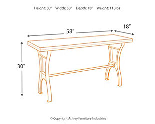 Dresbane Sofa/Console Table, , large